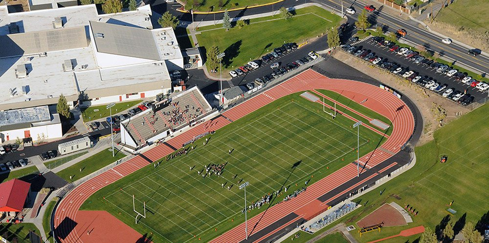 Bend-La Pine football field stadium constructed by Oregon builders