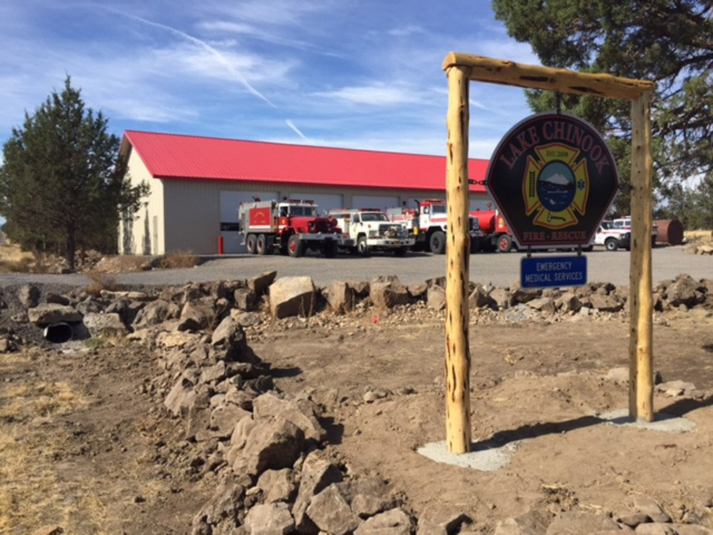 Lake Chinook RFD Apparatus Bay construction Oregon