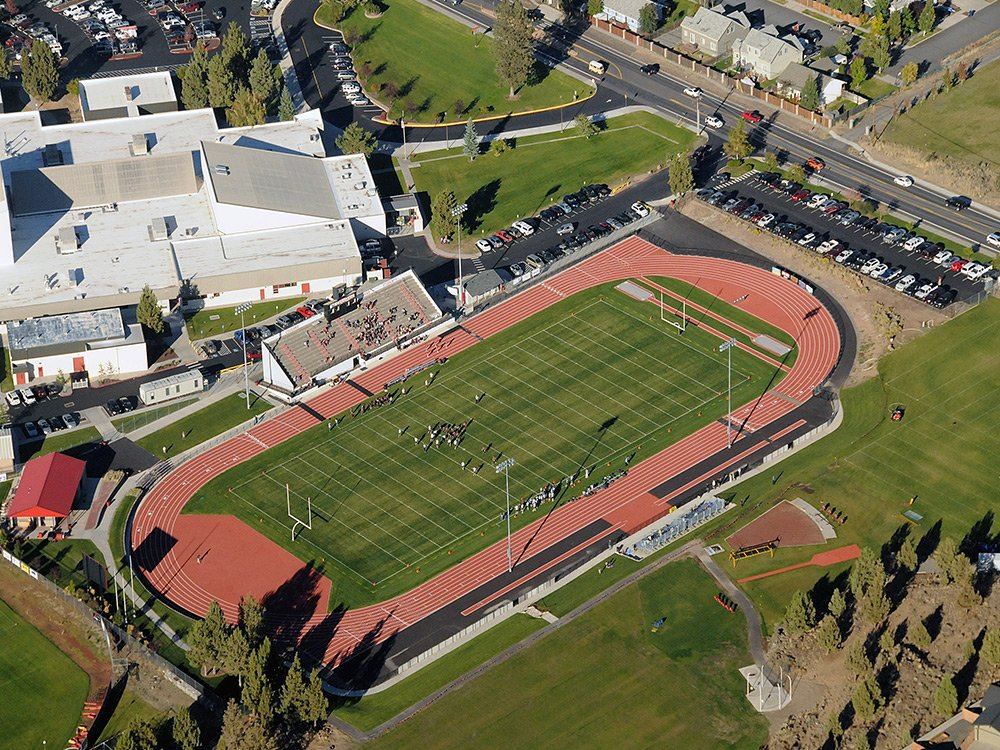 Bend La-Pine football field