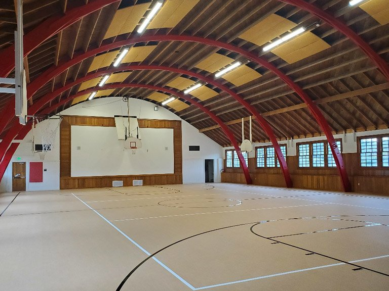 Mid Valley Middle School basketball court