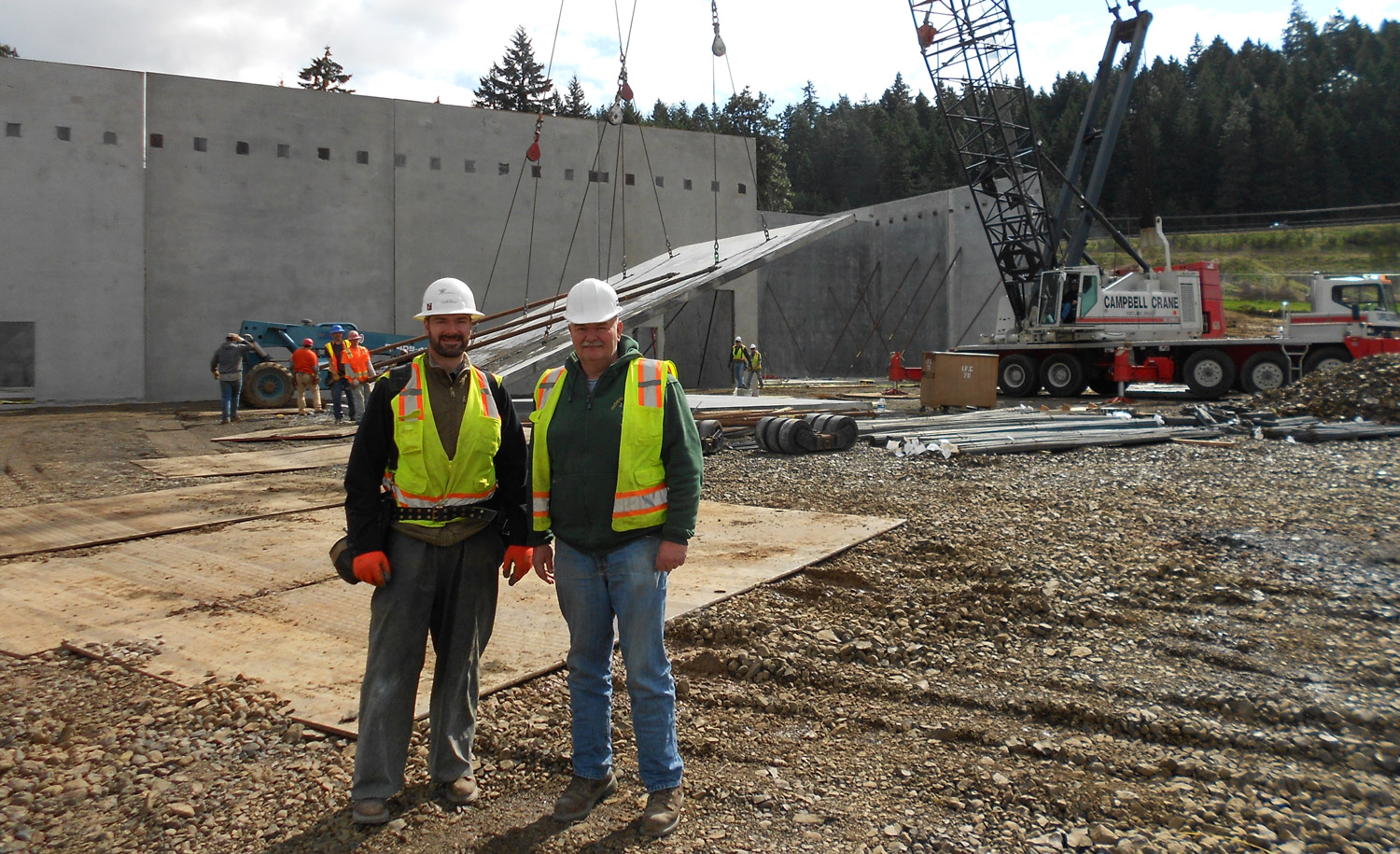 Sam and Samuel Griffin of Griffin Construction, a family owned construction company near Bend, Oregon