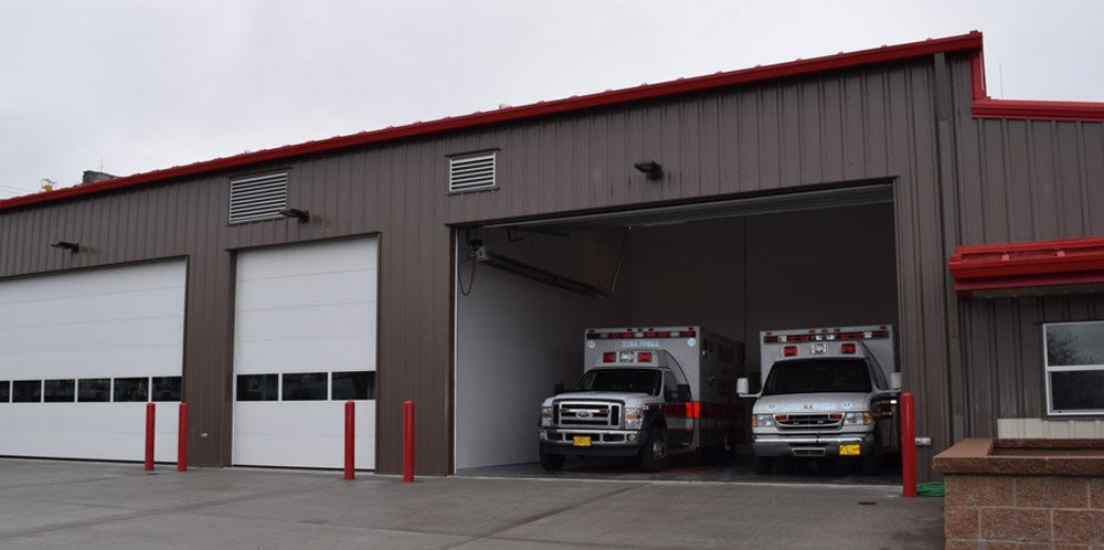 Emergency vehicle station built by Griffin Construction